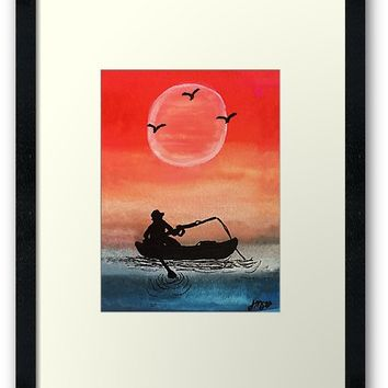 'Patience and Solitude' Framed Print by JillPillDesign