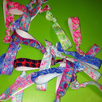 Lilly Pulitzer Inspired Elastic No Pull Hair Ties 20+prints