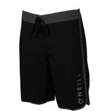 O'Neill Mens Black Board Shorts Santa Cruz Scallop Swimshorts Size 32