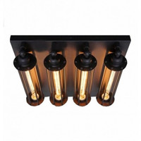 4 light edison vintage industrial rural creative ceiling lamp light