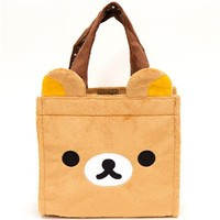 cute Rilakkuma bear face plush handbag - Handbags - Bags - Accessories - kawaii shop modeS4u