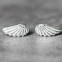 Tiny Angel Wing Stud Earrings, Sterling Silver Angel Wing Earrings, wing earrings, Angel studs earrings, Angel Wing Jewelry, gifts for her