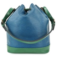 Auth LOUIS VUITTON Noe Blue and Green Epi Leather Shoulder Tote Bag Purse #28221