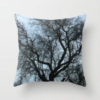Blue storm Throw Pillow by Guido Montañés