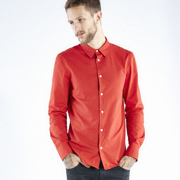 Organic Perfect Button Down - Red