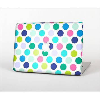 The Vibrant Colored Polka Dot V1 Skin Set for the Apple MacBook Pro 15""
