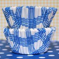 Blue Picnic Plaid Baking Cups