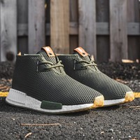 END CLOTHING X ADIDAS CONSORTIUM NMD_C1 - EARTH GREEN/WHITE – PACKER SHOES