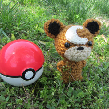 Made to Order - Crochet - Chibi Pokemon Amigurumi - Teddiursa
