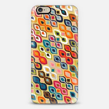 carnival ikat yellow iPhone 6 case by Sharon Turner | Casetify