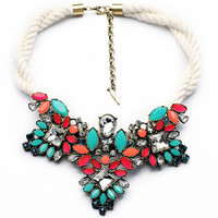 Collar Statement Necklace Choker Necklace Bib Necklace Chunky necklace Wedding Necklace