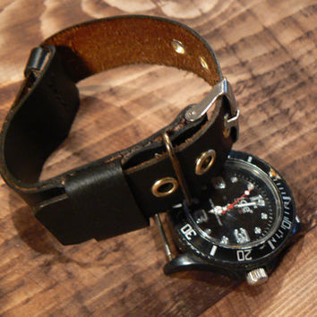 Zulu Watch Strap , Nato Watch Band , 22mm leather strap zulu , leather strap , leather gift