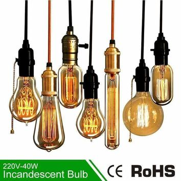 40W Incandescent Lamp E27 220V Edison Lamp Bulb Light Incandescent Light Bulbs Edison Bulb Lamp Edison Bulb Retro Vintage Light
