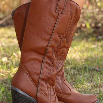 Thatta Cowgirl Boots: Brown - Shoes - Hope's Boutique
