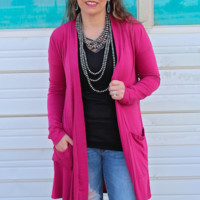 Raspberry Modal Duster with Pockets
