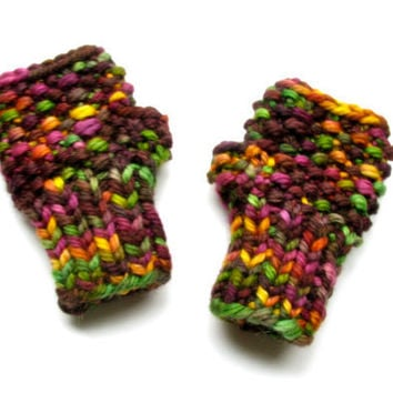 Fingerless Gloves Baby Colorful Mittens by GretaHoneycutt on Etsy