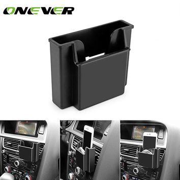 Onever New Multifunctional Black Mobile Phone Storage Box Car Air Vent Organizer FREE SHIPPING