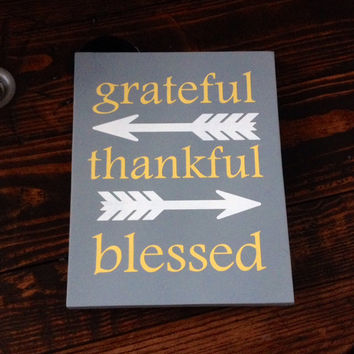 Christmas Sign, Christmas Decor, Grateful, Thankful, Blessed