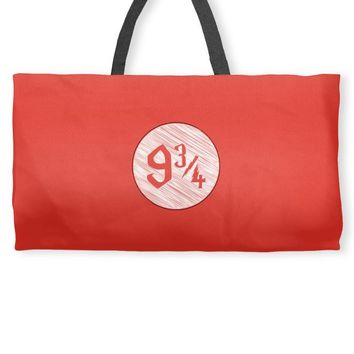 9 3 4 nine three quarters harry potter hogwarts Weekender Totes