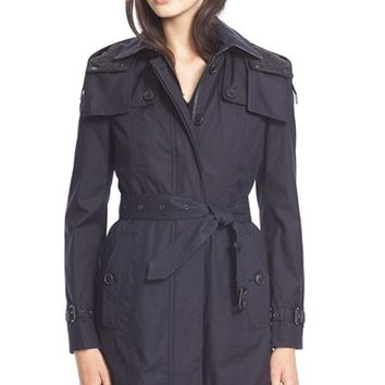 Women's BurberryBrit'Fenstone' Single Breasted Trench Coat with Detachable Hood & Liner,