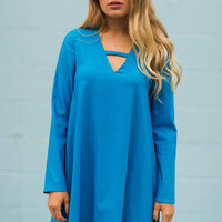 Totally Teal Shift Dress