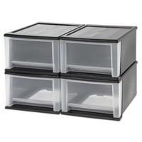IRIS 17 qt. Stacking Drawers (Set of 4)