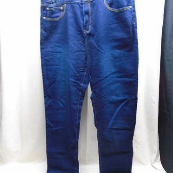 Saza Jeans Women's High Waist Straight Leg Denim Jeans Stretch Size 22