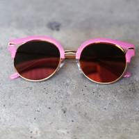 Round Retro Sunnies {Pink}