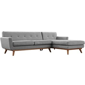 Engage Mid Century Modern Right-Facing Sectional Sofa