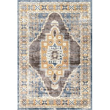 nuLoom Transitional Stacey Medallion Area Rug