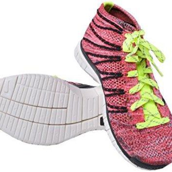 Nike Free Flyknit Chukka Men Round Toe Synthetic Pink Sneakers