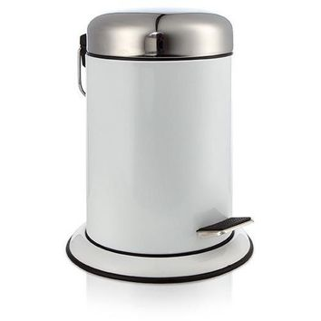 MV Round Pedal Wastebasket Trash Can for Bathroom, Kitchen, Office