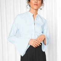 & Other Stories | Pleated Cuff Shirt | Blue