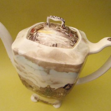Olde English Countryside By Johnson Bros Hand Engraving Teapot