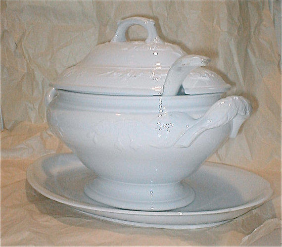 Antique English Ironstone Soup Tureen From