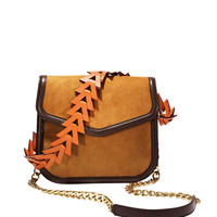 Loewe V-Shoulder Bag - Brown Suede Bag