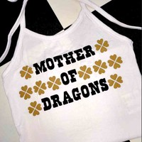 SWEET LORD O'MIGHTY! MOTHER OF DRAGONS HALTER IN WHITE