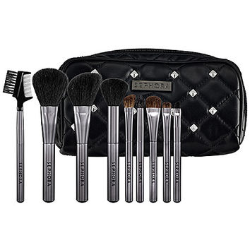 SEPHORA COLLECTION Tough Love Studded Pouch Brush Set