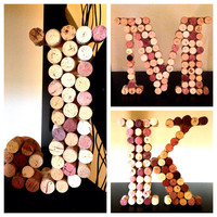 Personalized Wine Cork Letters