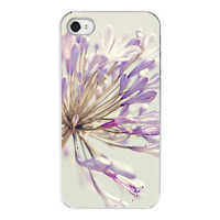 Flower Iphone case  Iphone 4 4s cover  purple by RetroLoveCases