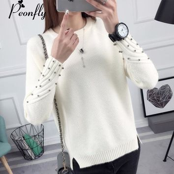 PEONFLY Thick Warm Winter Sweater Women Knitted Pullover Female Jumper Tricot Pullover Women's Winter Tops Pull Femme