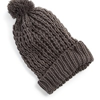 Pom Pom Cable Knit Hat