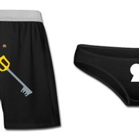 Keyblade Keyhole Couples Underwear Set