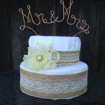 Mr And Mrs Cake Topper Wedding Wire Personalized