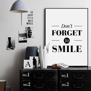 Don't Forget to smile Poster