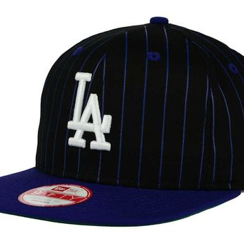 Los Angeles Dodgers New Era MLB Vintage Pinstripe 9FIFTY Snapback Hat