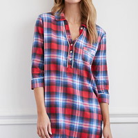 Plaid PJ Shirt Dress