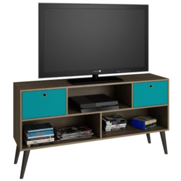 Modern TV Stand Entertainment Center in Wood Finish