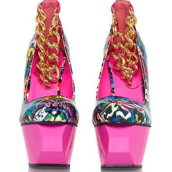 Privileged Twee Patent Platform Heels - Multi from Privileged Shoes at ShopRoxx.com