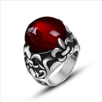 Classical beauty acme agate collocation scout flower lovers ring Jewelry